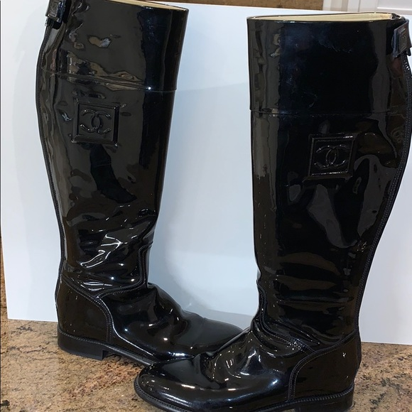 CHANEL Shoes - BEAUTIFUL CHANEL Patent Leather Boots!